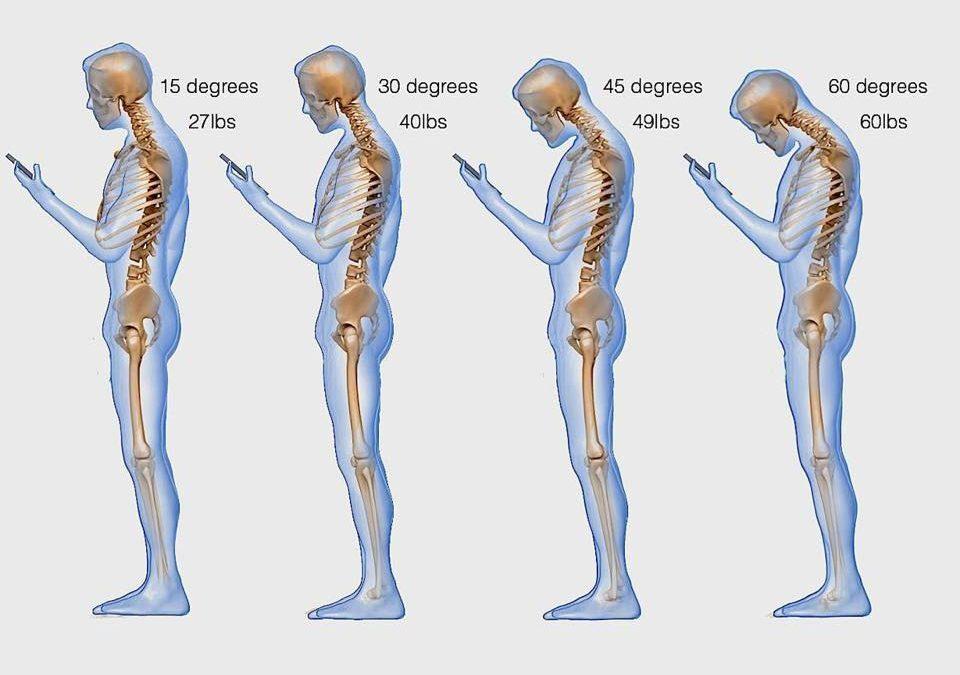 """Il """"PESO"""" di Smartphone e Tablet sulla nostra cervicale"""